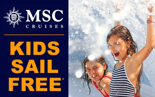 MSC Cruises: Kids Sail FREE*