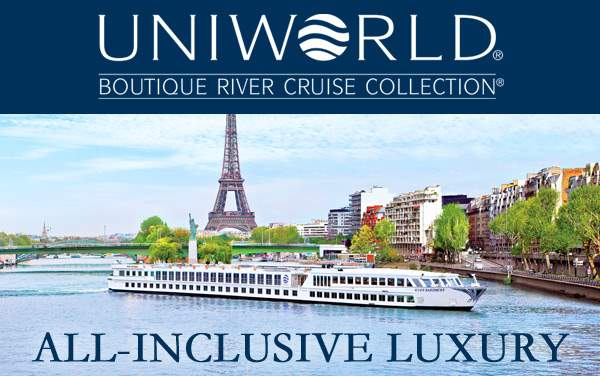 Uniworld: Free Gratuities, Unlimited Drinks...