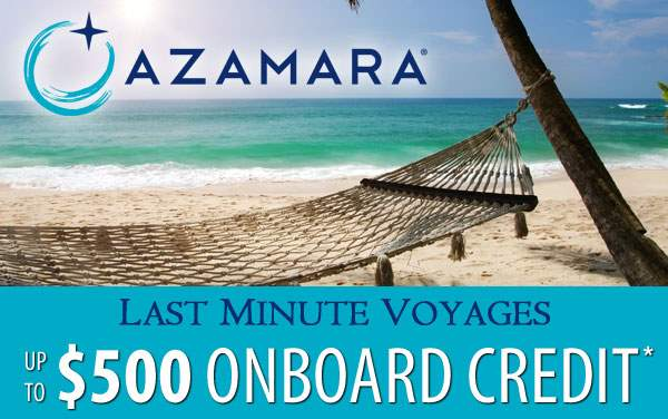 Azamara: up to $500 to Spend Onboard*