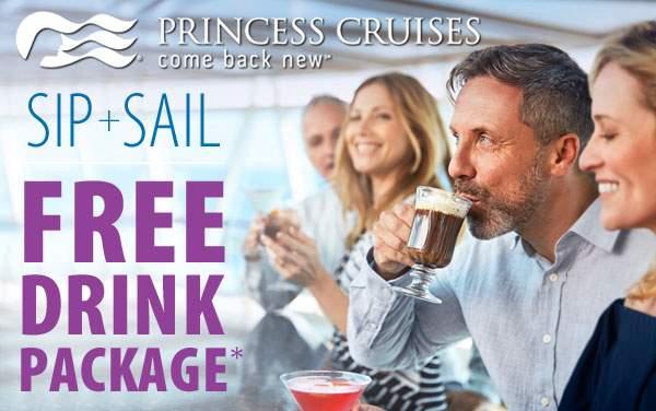 Princess Cruises: FREE Beverage Package*