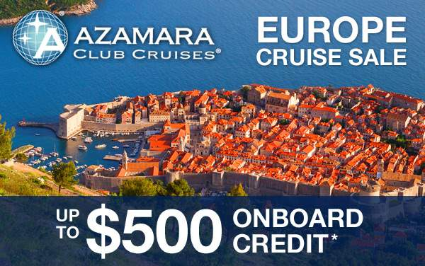 Azamara Club Cruises: up to $500 Onboard Credit*