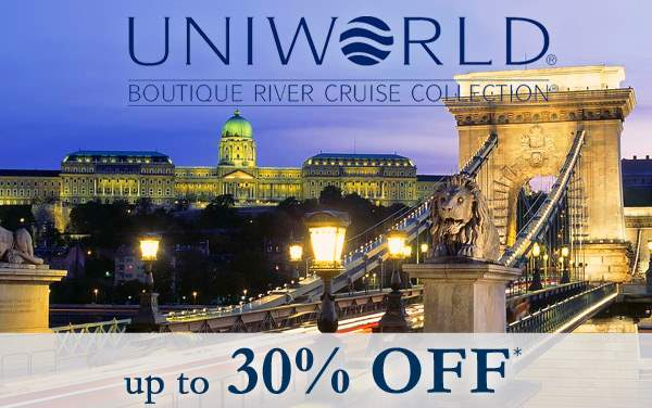 Uniworld River Cruises: up to 30% OFF*