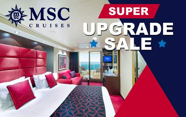 MSC Cruises: FREE Balcony Upgrade*