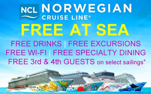 Norwegian Cruise Line: up to 5 FREE Perks*