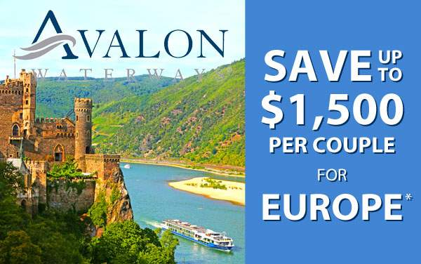 Avalon: up to $2,500 OFF Europe*