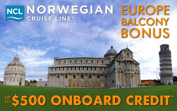 Norwegian Cruise Line Europe Sale: up to $500 OBC*