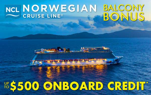 Norwegian Balcony Bonus: up to $500 OBC*