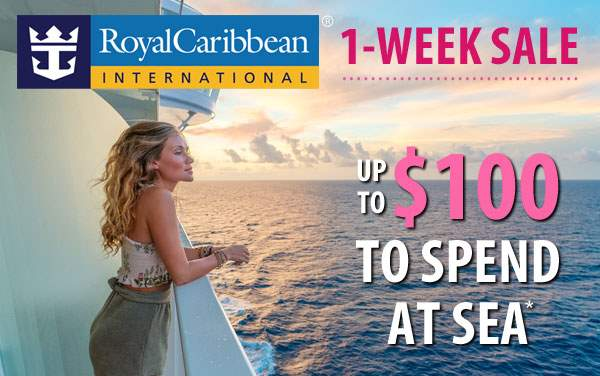 Royal Caribbean Sale: up to $100 Onboard Credit*