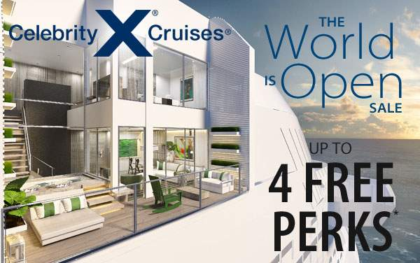 Celebrity Cruises: Choose up to 4 Perks*