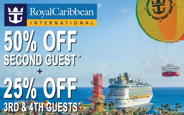 Royal Caribbean: 50% OFF Second Guest*