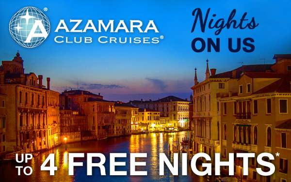 Azamara Club Cruises: up to 4 FREE Nights*