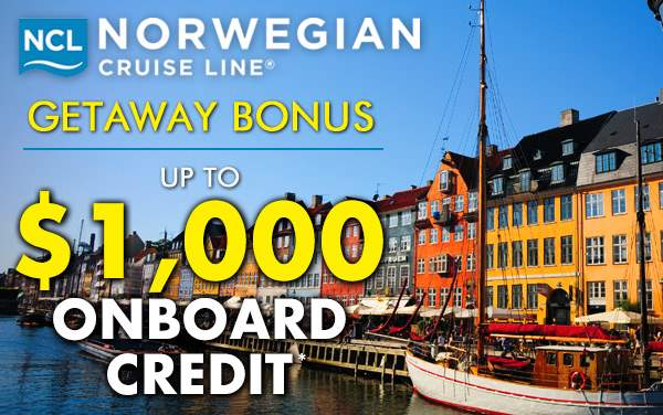 Norwegian Getaway: up to $1,000 Onboard Credit*