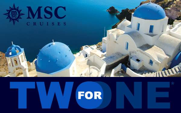 MSC Cruises: 2-for-1 Europe Sale*
