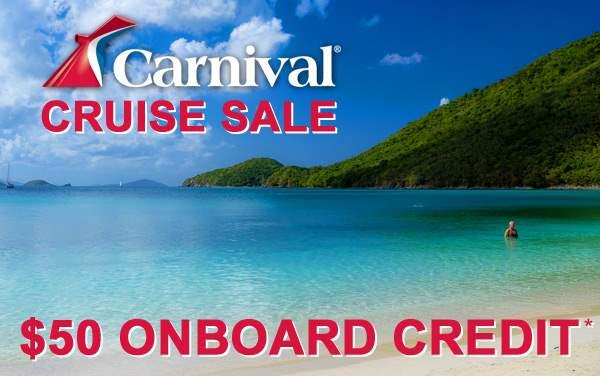 Carnival Sale: FREE $50 Onboard Credit*