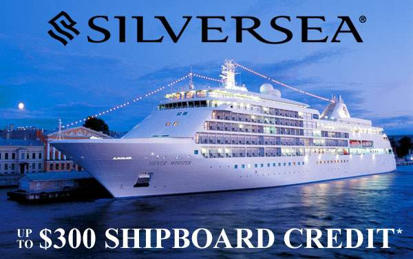 Silversea: up to $300 FREE Shipboard Credit*