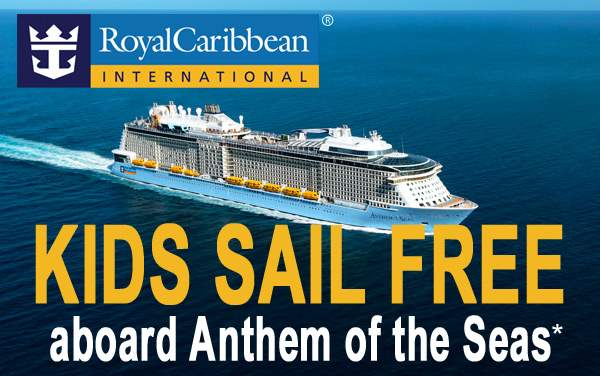 Royal Caribbean: Kids Sail FREE aboard Anthem*