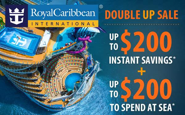 Royal Caribbean: up to $200 OFF and up to $200 OBC