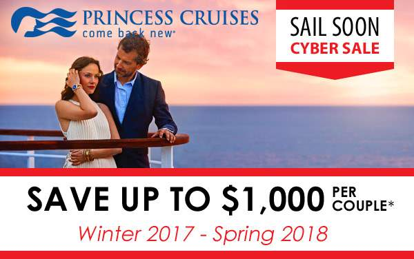 Princess Cyber Sale: up to $1,000 OFF*