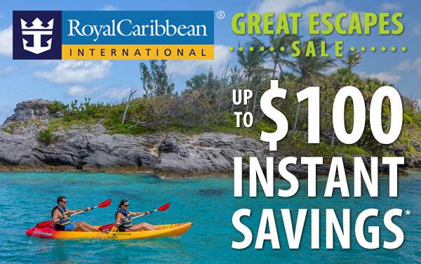 Royal Caribbean Sale: up to $100 Instant Savings*