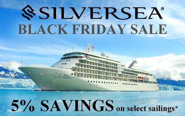Silversea Cruises Black Friday Sale: 5% OFF*
