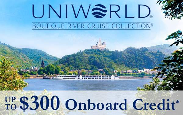 Uniworld: up to $300 Shipboard Credit*