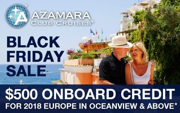Azamara Black Friday Sale: $500 Onboard Credit*