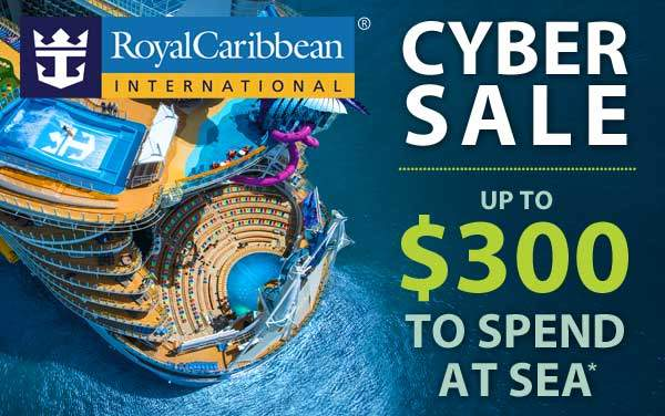 Royal Caribbean Cyber Sale: up to $300 OBC*
