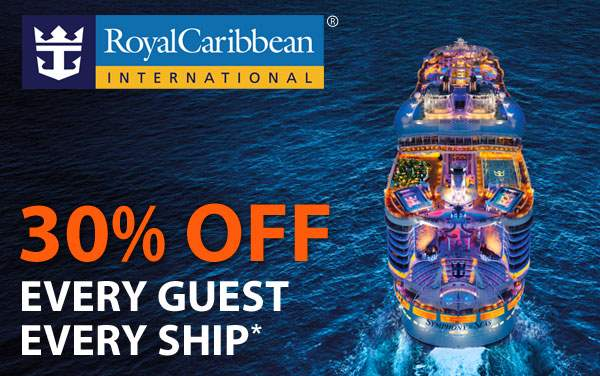 Royal Caribbean: 30% OFF Each Guest*
