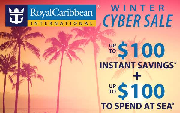 Royal Caribbean: up to $100 OFF and up to $100 OBC