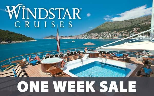 Windstar Cruises: 1-Week Sale