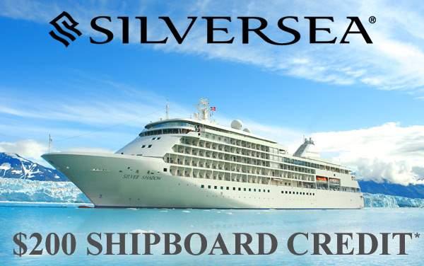 Silversea: $200 FREE Shipboard Credit*