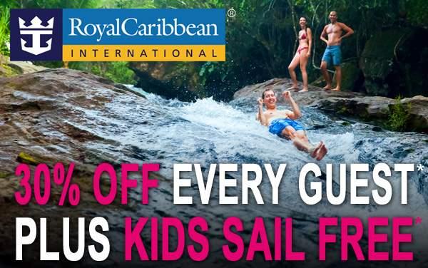 Royal Caribbean: 30% OFF and Kids Sail FREE*