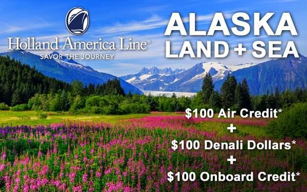 Holland America: Alaska Cruisetour Bonus