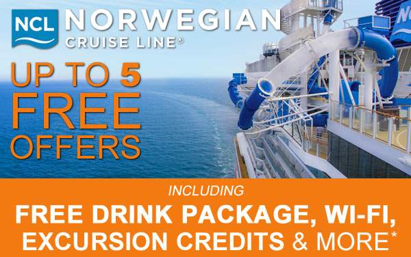 Norwegian Cruise Line: up to 5 Free Offers