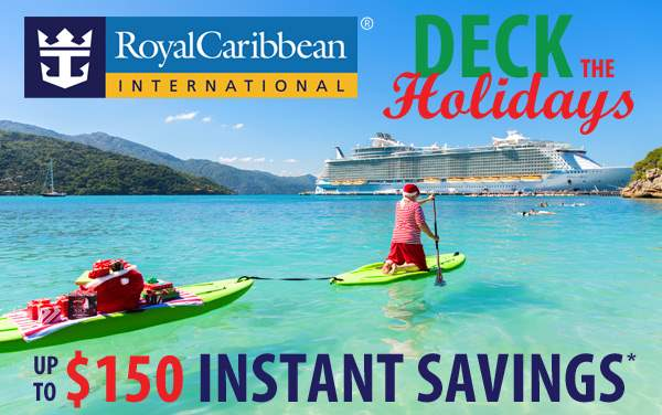 Royal Caribbean Holiday Sale: up to $150 Off*