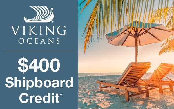 Viking Caribbean Sale: $400 Shipboard Credit*
