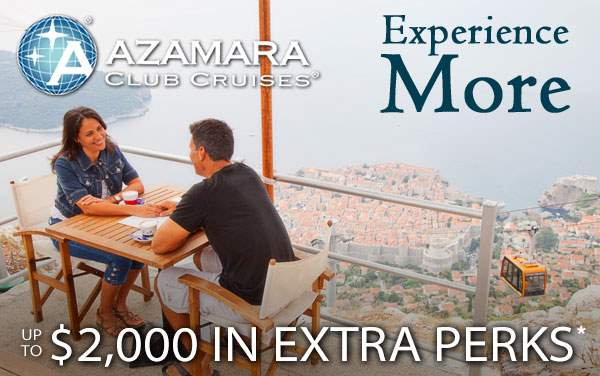 Azamara Sale: up to $2,000 in Free Perks*