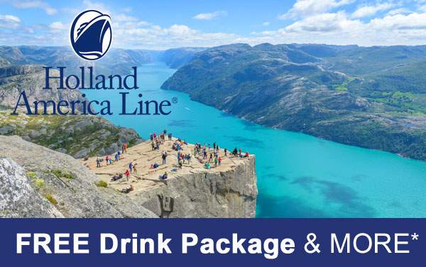 Holland America Sale: Free Drink Package and More*