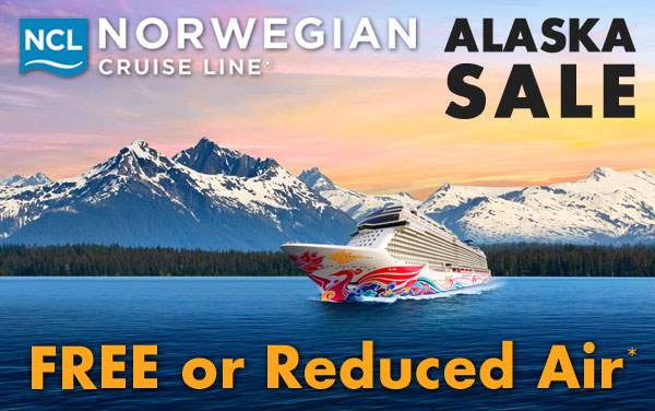 Norwegian Cruises to Alaska with up to Free Air