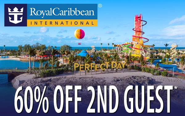 Royal Caribbean Sale: 60% Off 2nd Guest*