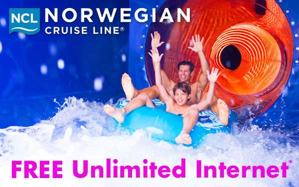 Norwegian Cruise Line: Free Unlimited WiFi*