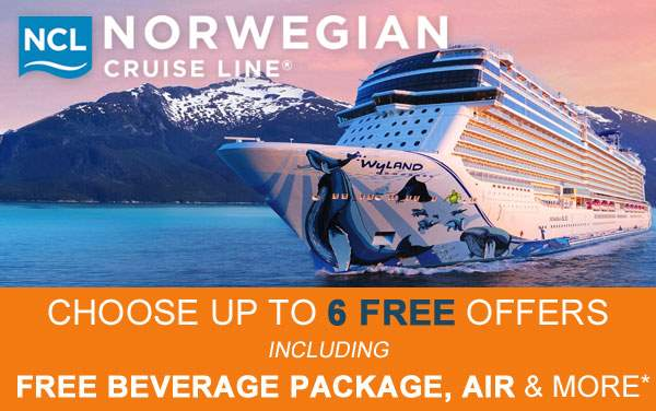Norwegian Cruise Line: up to 6 FREE Offers*