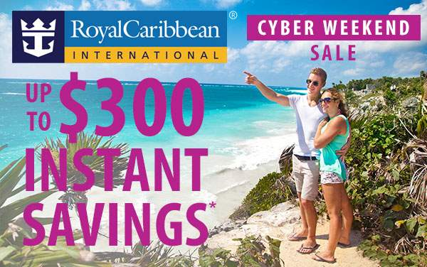 Royal Caribbean Cyber Sale: up to $300 in Savings*