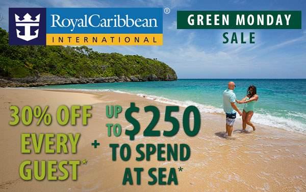Royal Caribbean Green Monday: 30% OFF + up to $250