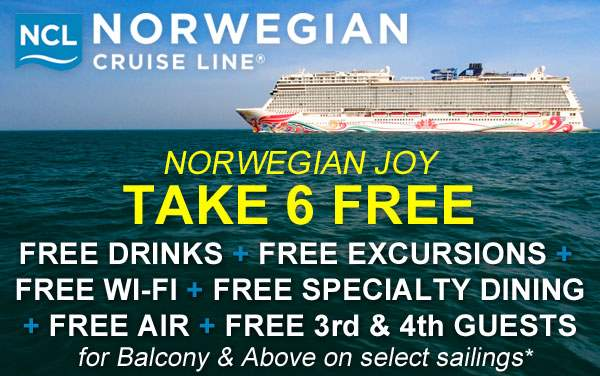 Norwegian Joy: 6 FREE Perks for select sailings*