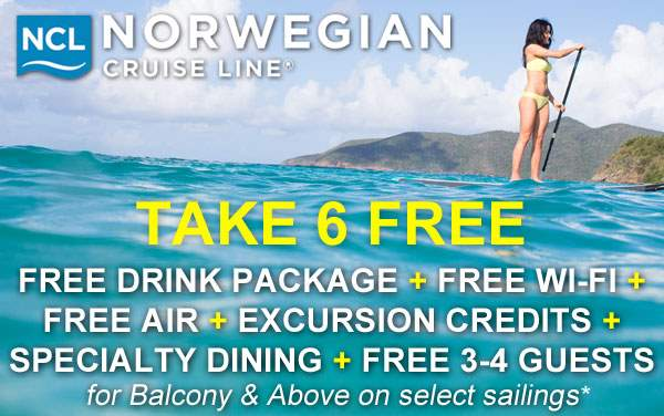 Norwegian Cruise Line: up to 6 FREE Perks*