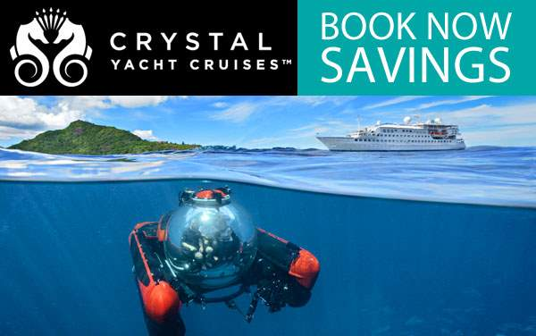Crystal Yacht Cruises: up to $3,600 Savings*