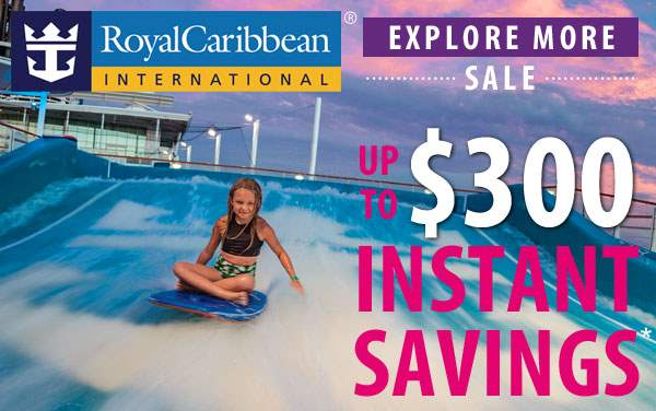 Royal Caribbean Sale: up to $300 Instant Savings*