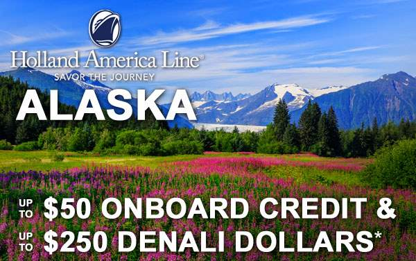 Holland America Alaska Sale: Free Spending Money