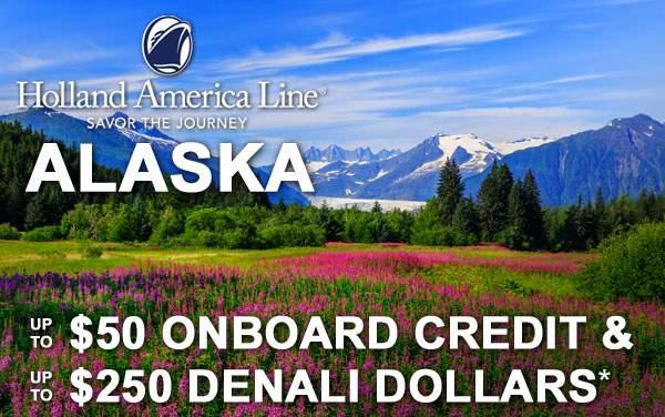 Holland America Alaska Sale: Free Spending Money